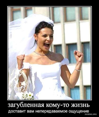 Женитьба это процесс попадания мужчины в нежные женские лапы.