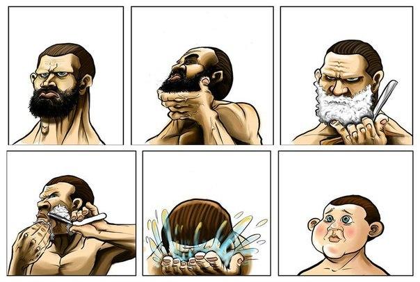 Хорошая борода скрывает недостатки лица