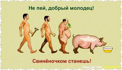 Пьяный человек становится хуже самого грязного скота