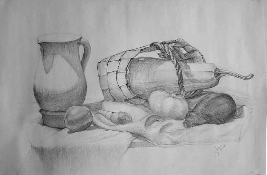 осенний натюрморт рисунки: